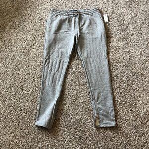 PacSun Grey Cotton Joggers Size Large Short Zip